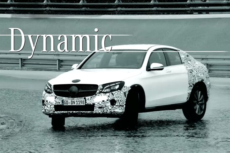Mercedes-Benz Teases Fastback GLC Coupe for New York
