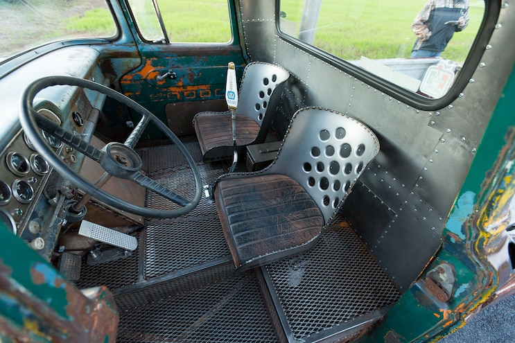 030 1960 Ford F 100 Caterpillar Diesel Engine Swap Rat Rod Pickup Custom Mesh Interior And Bucket Seats