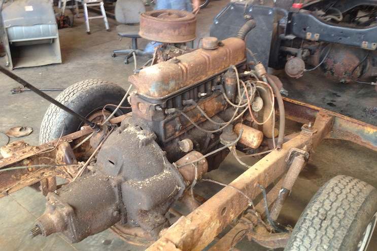 007 1960 Ford F 100 Caterpillar Diesel Engine Swap Rat Rod Pickup Barn Find Original Engine