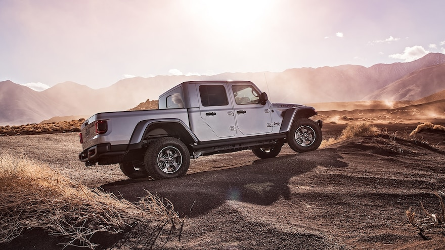 2020 Jeep Gladiator Rubicon Side Rear View Parked