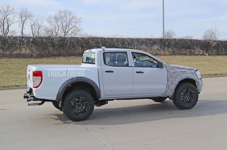2021 Ford Ranger Raptor Mule Rear Quarter 01