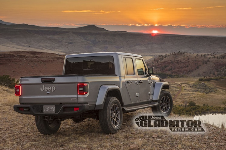 2020 Jeep Gladiator Jt Sahara Rear Quarter 01