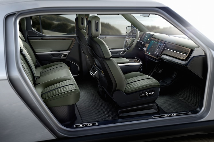 2021 Rivian R1t Interior Cutaway
