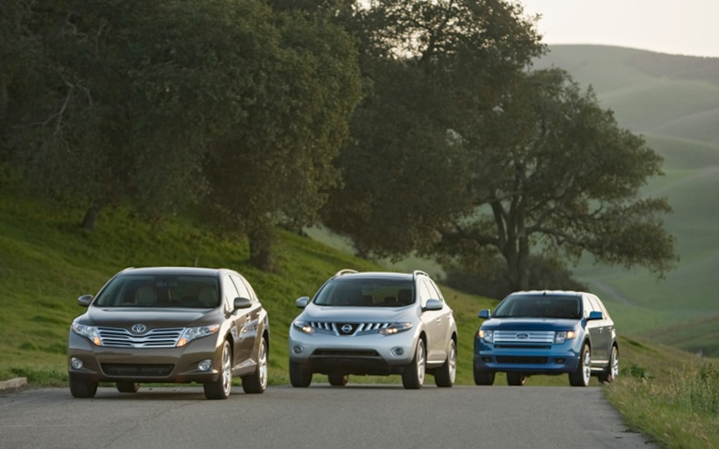 Comparison: 2009 Ford Edge vs. 2009 Nissan Murano vs. 2009 Toyota Venza