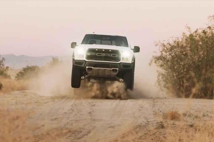2017 Ford F150 Raptor Desert Sand Jump