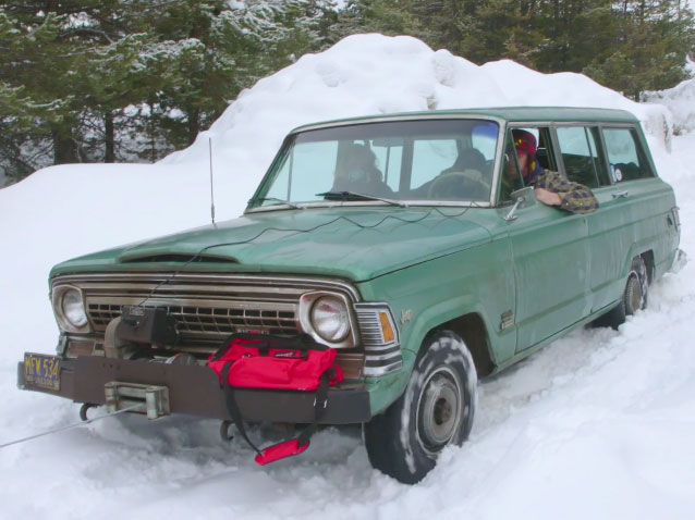 Jeep Wagoneer Stuck In Snow
