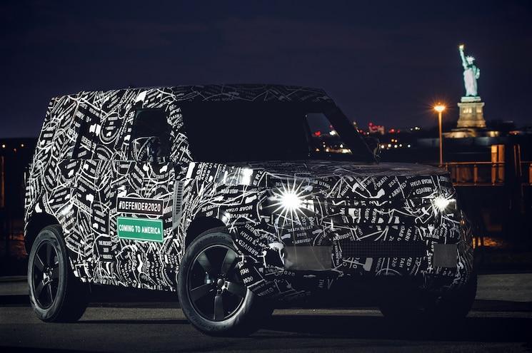 2020 Land Rover Defender New York Exterior Front Quarter 01