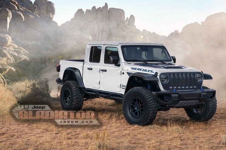 2021 Jeep Gladiator Hercules Forum Rendering 03 White