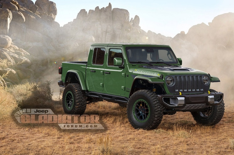 2021 Jeep Gladiator Hercules Forum Rendering 04 Green
