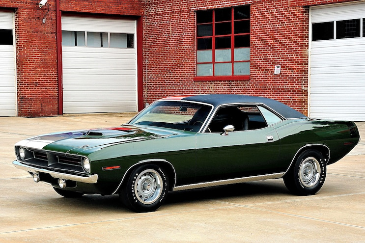 Shop Class Where Are The Cars 1970 Plymouth Barracuda Stock Side Front Three Quarter Alt