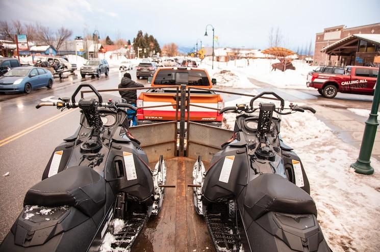 Nissan Titan Adventure Snowmobiling 06