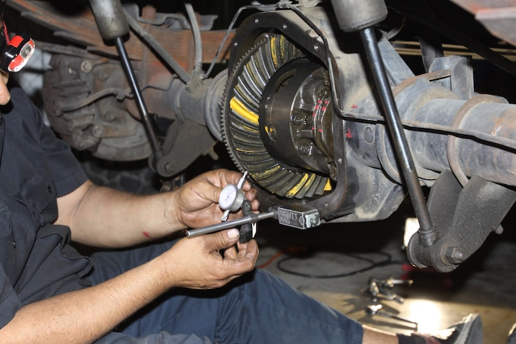 Correcting The Axle Gear Ratio Ring Gear Dial Indicator