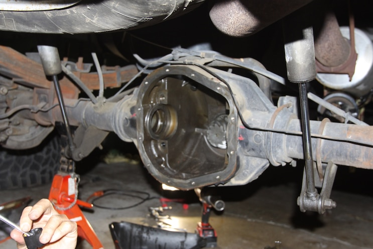 Correcting The Axle Gear Ratio Diff Pinion Installed
