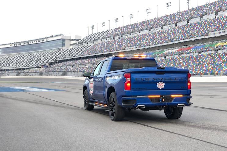 The Drivers Seat 2019 Silverado 1500 NASCAR Pace Truck Rear 3q