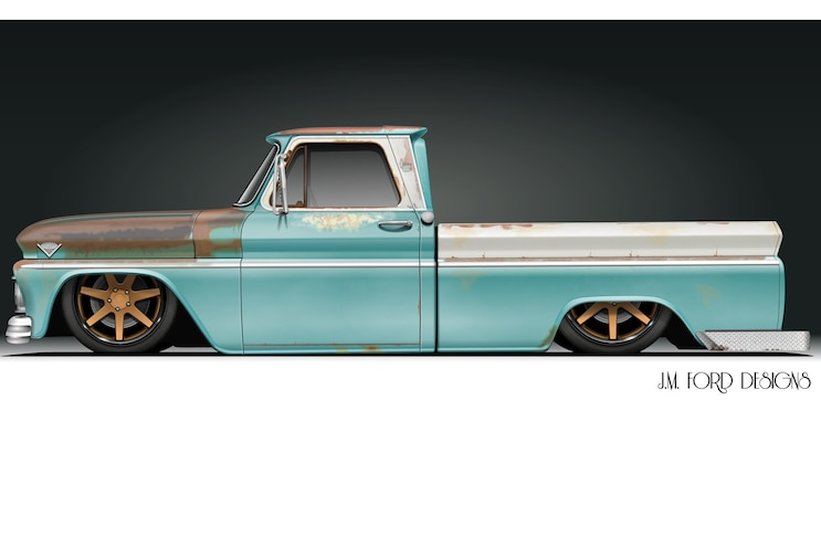 Radical Renderings JM Ford Designs 1966 GMC