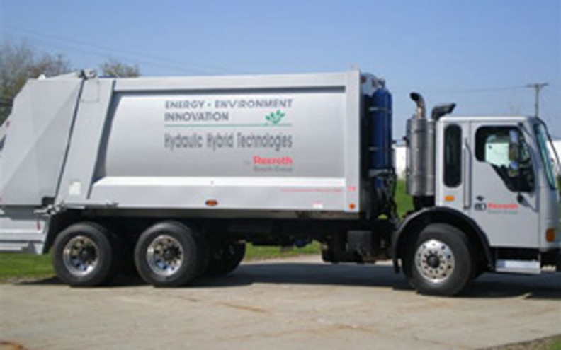 bosch Crane Carrier Hybrid Hydraulic Refuse Truck side View