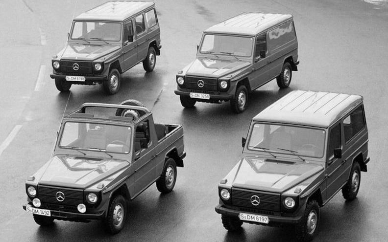 mercedes Benz G Class vintage Models