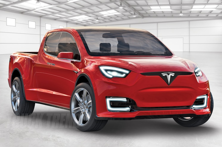 Tesla Pickup Truck Right Front Warehouse