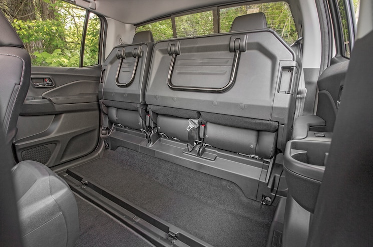 2017 Honda Ridgeline First Drive Rear Seats Folded
