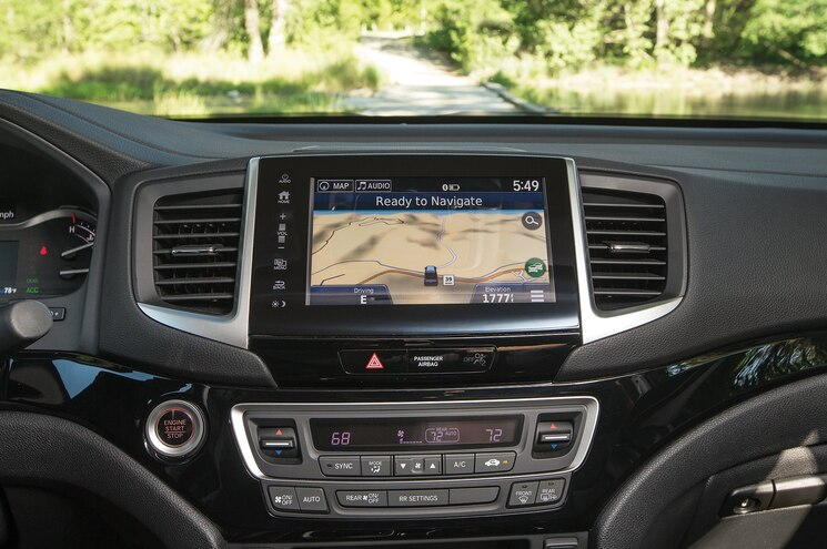 2017 Honda Ridgeline First Drive Dash