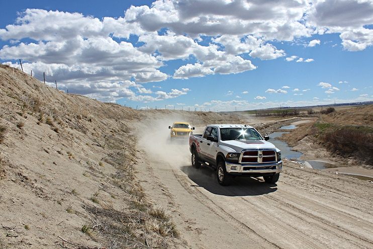 2016 Nissan Titan Xd Vs Ram Power Wagon Dirt Path