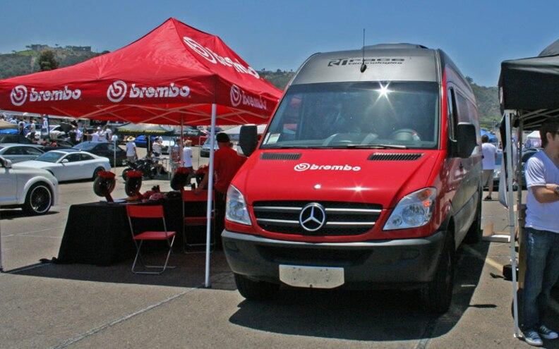 socaleuro Meet 2009 brembo Booth With A Mercedes Sprinter Van