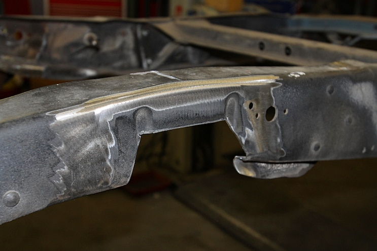 1967 Ford F 100 Project Speed Bump Chassis Cutting