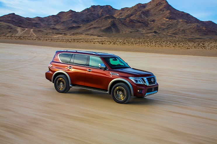 2017 Nissan Armada First Drive Review Passenger Side