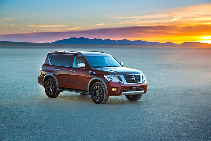 2017 Nissan Armada First Drive Review Front Quarter