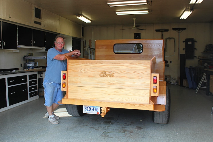 Custom All Wood Ford Pickup Truck View Of Rear