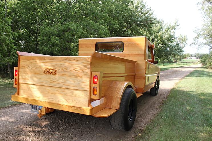 Custom All Wood Ford Pickup Truck Rear