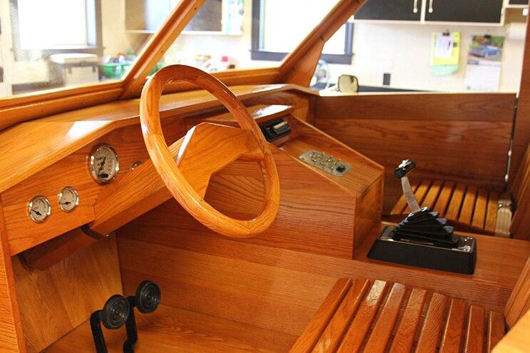 Custom All Wood Ford Pickup Truck Interior