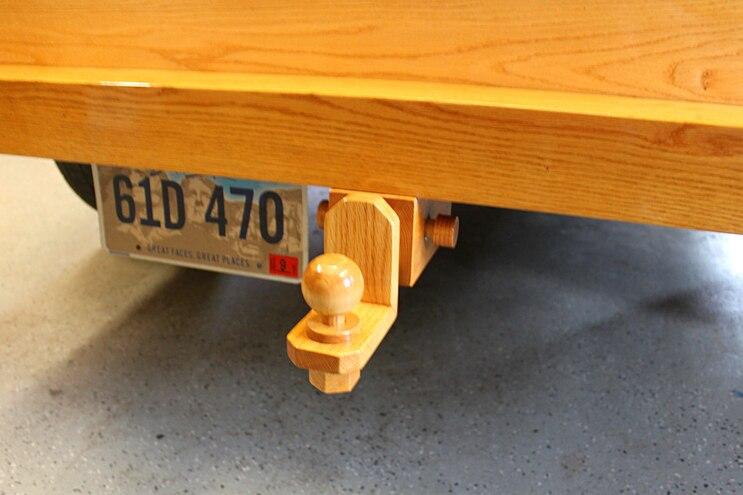 Custom All Wood Ford Pickup Truck Hitch