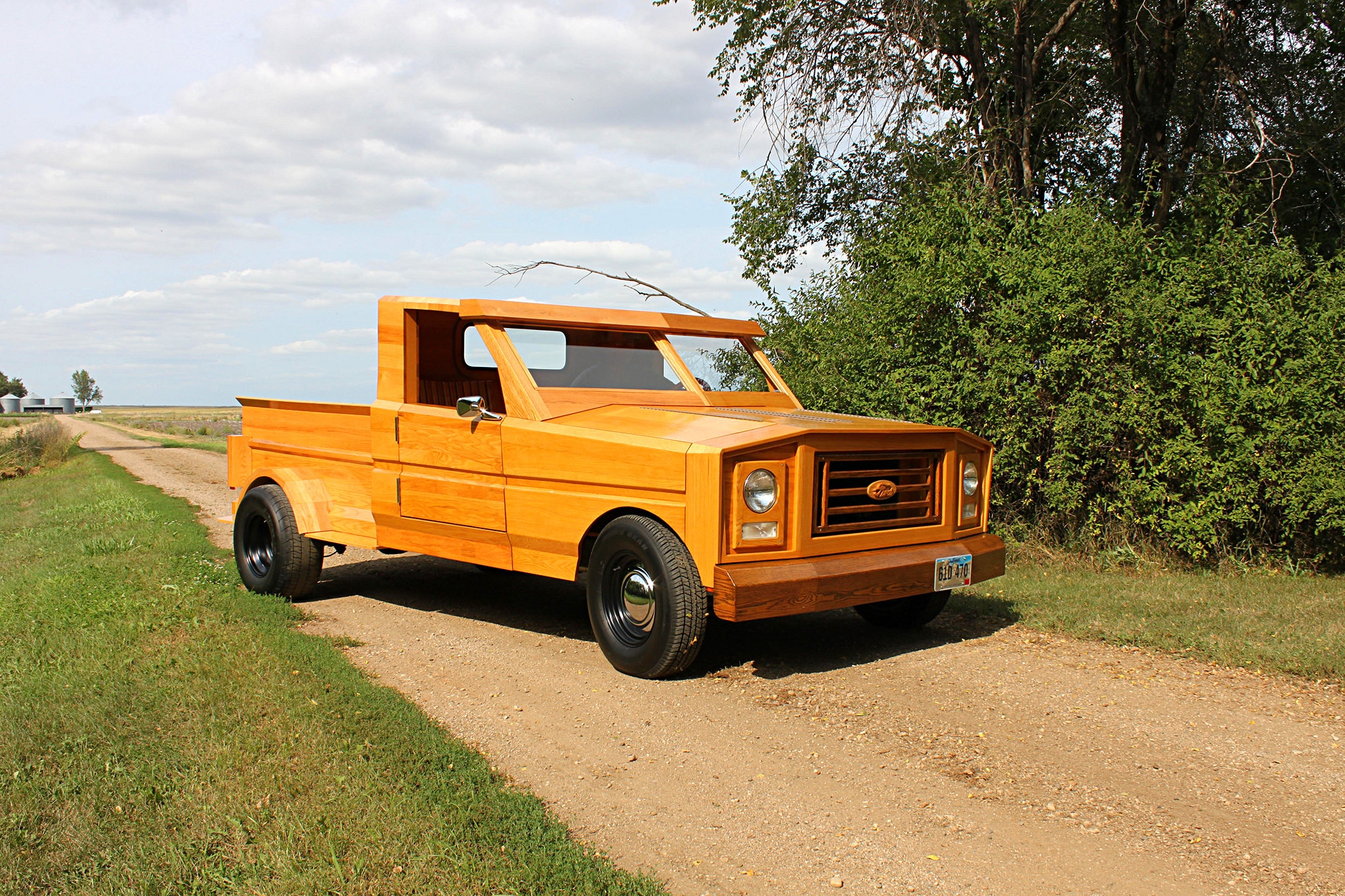 Custom Built All-Wood Ford Pickup Truck