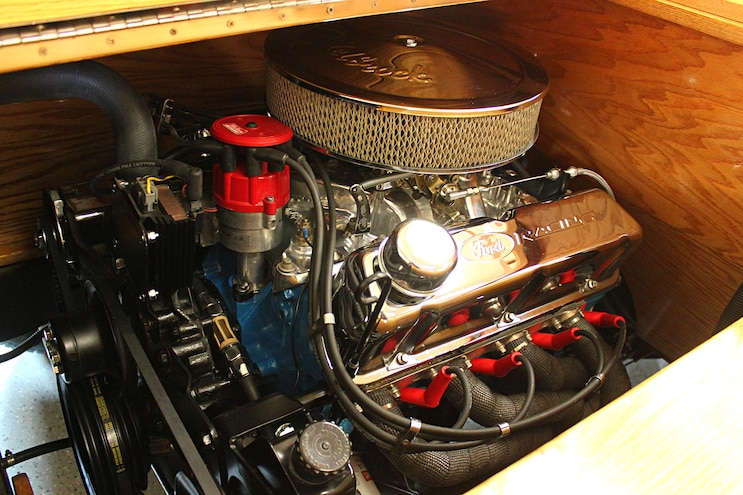 Custom All Wood Ford Pickup Truck Engine