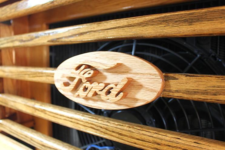 Custom All Wood Ford Pickup Truck Emblem