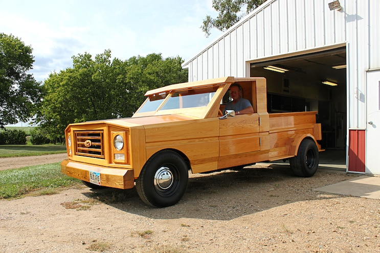 Custom All Wood Ford Pickup Truck Driver Side