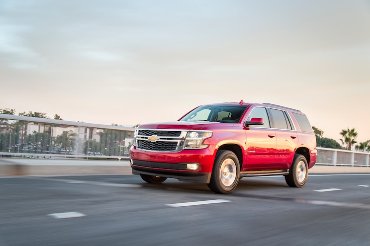 2015 Chevrolet Tahoe LT Front Three Quarter In Motion 02
