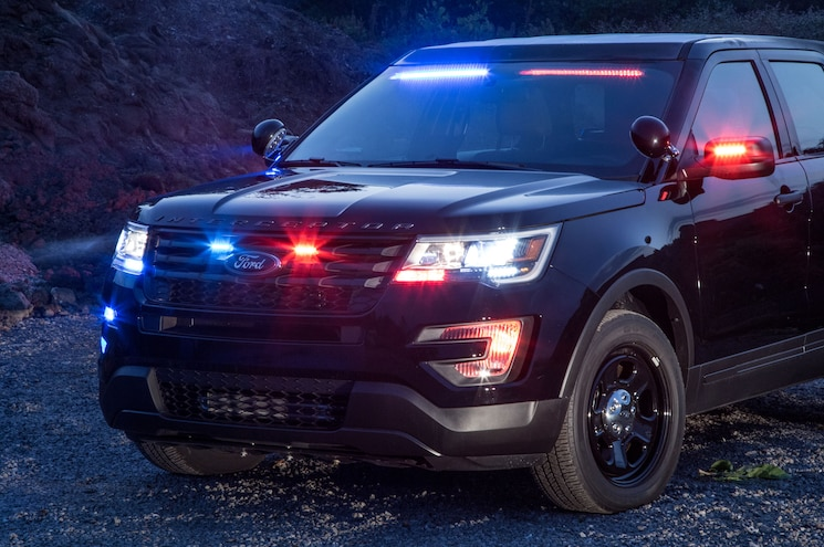 2017 Ford Police Interceptor Utility Front Visor Lights 01