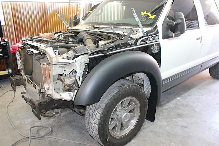 2001 Ford Excursion Front End Swap 19