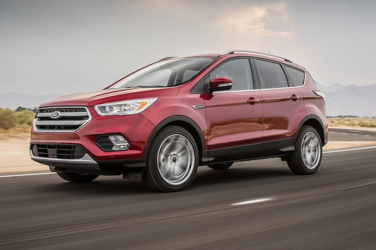 2017 Ford Escape Titanium 20 EcoBoost Front Three Quarter In Motion E1477679744779