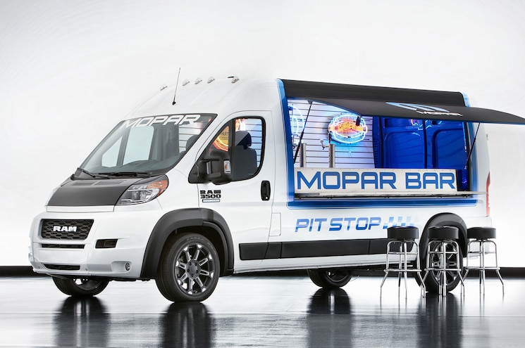 2017 Ram Promaster Pit Stop Front Quarter Awning Up