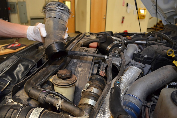 2011 Ford F 250 AFE Install Removing Stock Tubes