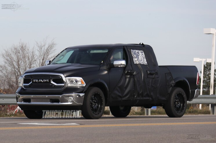 SPIED: 2019 Ram 1500 Mega Cab Mule With Reshaped Tailgate