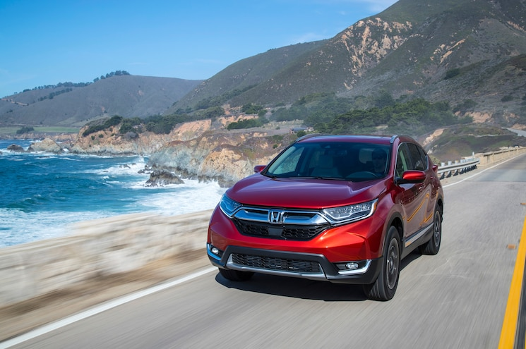 2017 Honda Cr V Touring Front Quarter 05