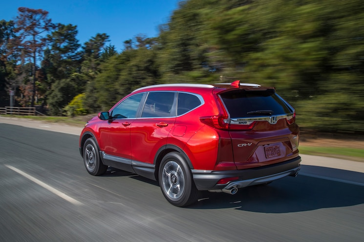 2017 Honda Cr V Touring Rear Quarter 01