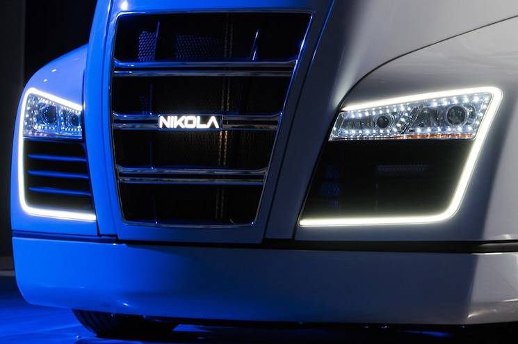 Nikola Motor Company Teases Nikola One Hydrogen Truck Before Reveal Tonight