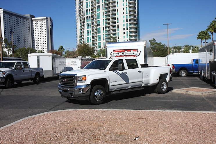 001  Diesel Trucks Cars Sema  Parking Lot