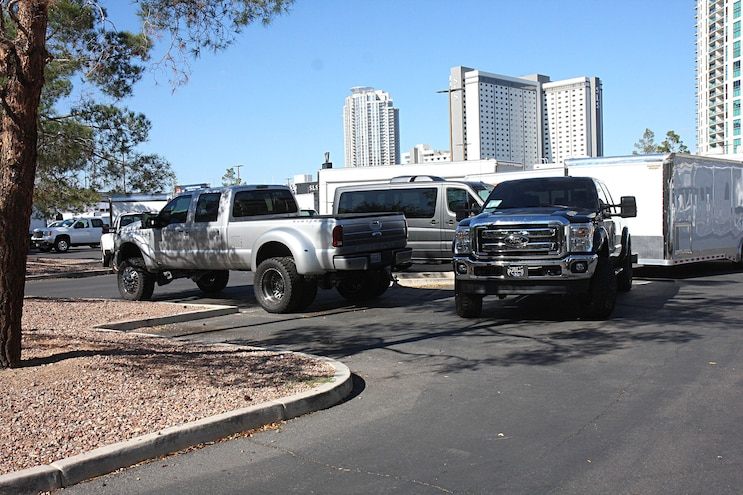 006  Diesel Trucks Cars Sema  Parking Lot