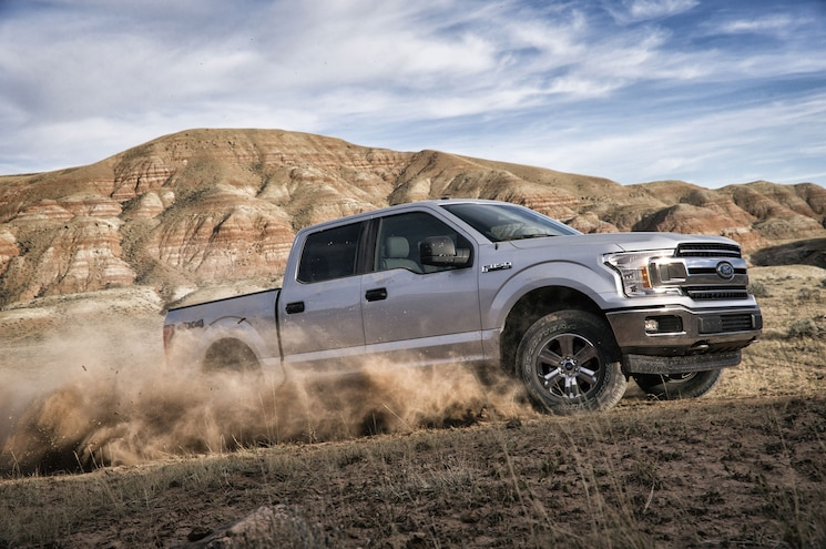 2018 Ford F 150 Xlt Front Quarter Off Road